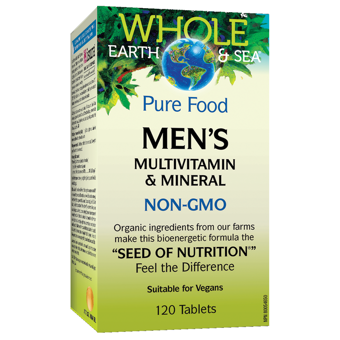 Men's Multivitamin & Minerals 120 caps: Whole Earth & Sea
