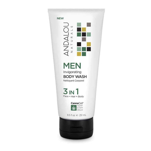 Andalou Naturals Men's 3 in 1 Body Wash 251ml