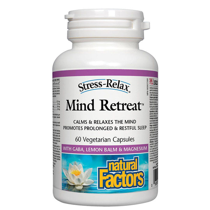 Natural Factors Stress and Relax Mind Retreat formula 60 v-caps