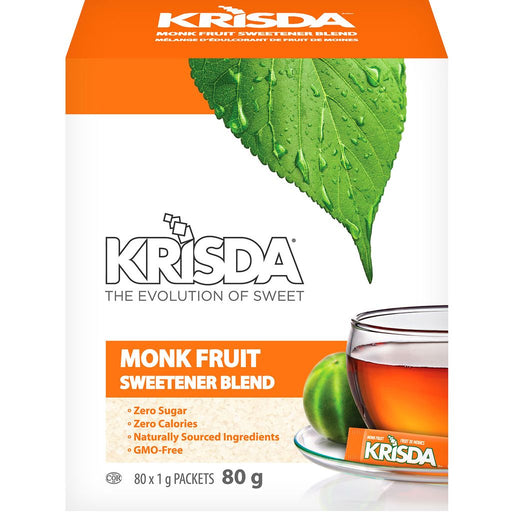 Krisda Monk Fruit Sweetener Blend Packets 80g