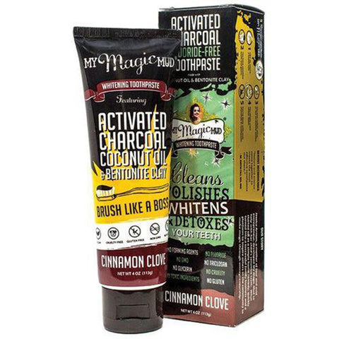 My Magic Mud Charcoal Toothpaste Cinnamon Clover 4 oz
