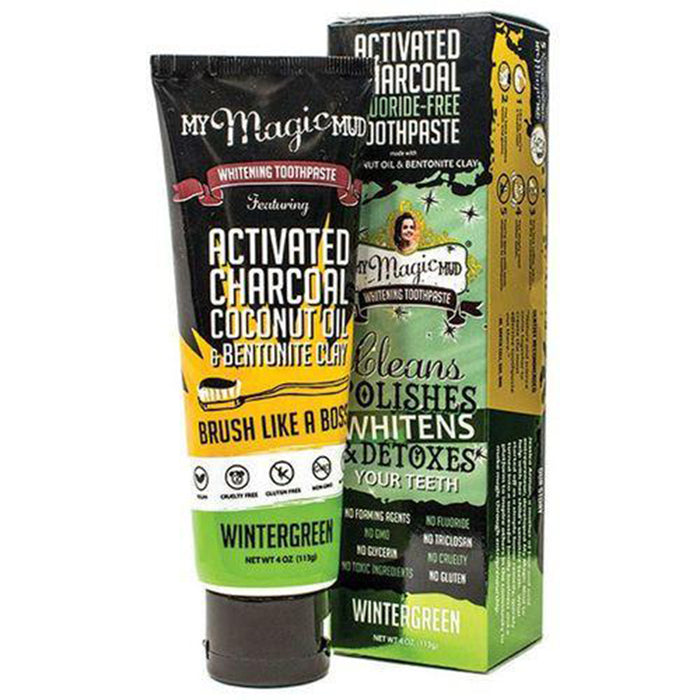My Magic Mud Charcoal Toothpaste wintergreen 4 oz
