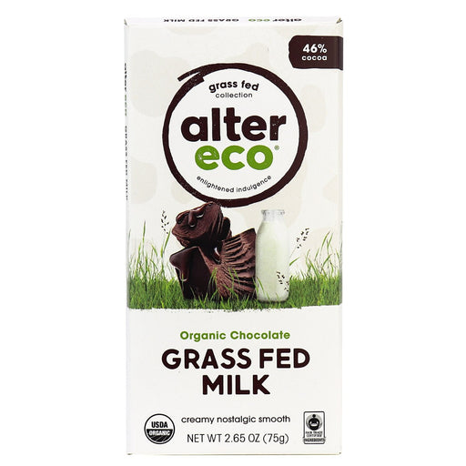 Alter Eco Grass Fed Classic Milk Chocolate  46% 75g