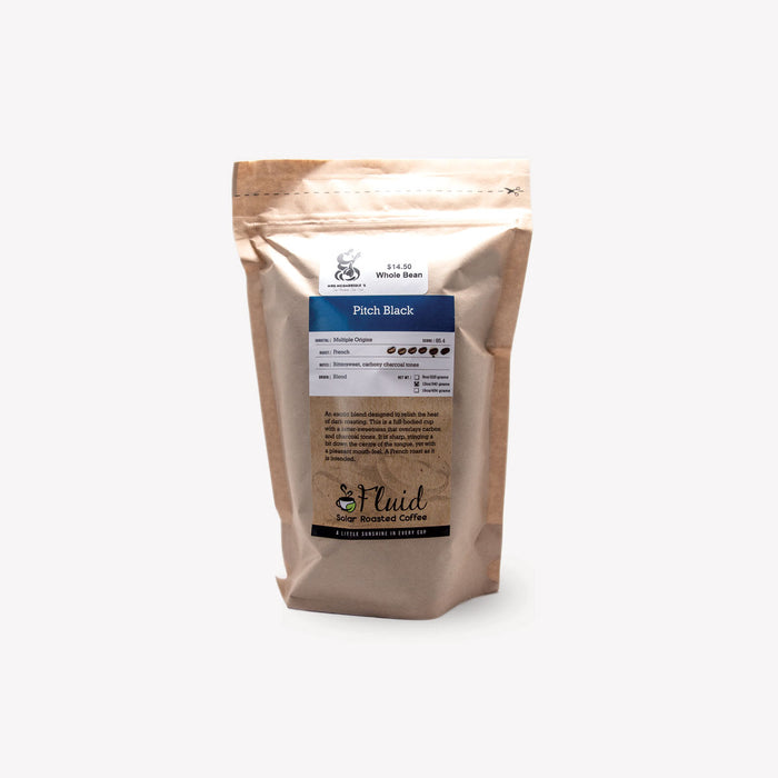 Fluid Solar Coffee Whole Bean Pitch Black 340g