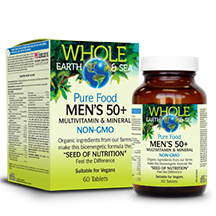 Men's 50+ Multivitamin & Minerals 60 tab: Whole Earth & Sea