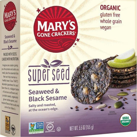 Mary's Super Seed Crackers Seaweed & Black Sesame