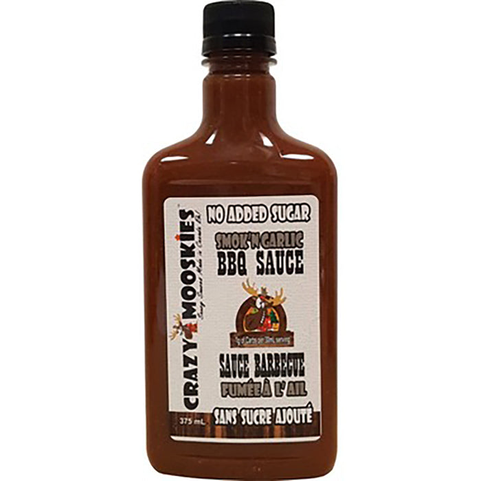 Crazy Mooskies Smokin Garlic BBQ Sauce 375ml