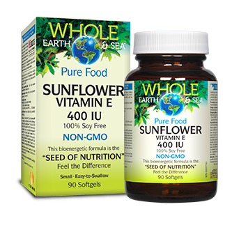 Whole Earth and Sea Sunflower Vitamin E 90 soft gel at the Natural Food Pantry