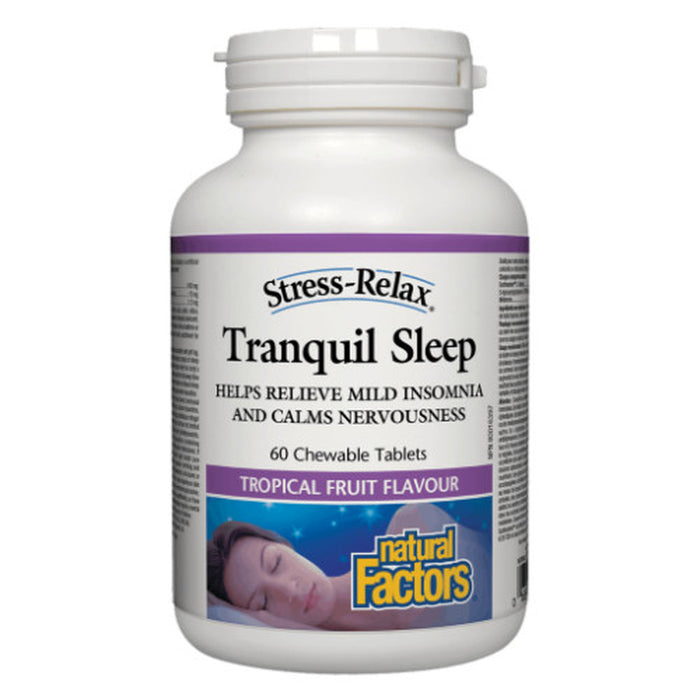 Natural Factors Stress-Relax Tranquil Sleep Tropical Fruit 60 chewable tabs