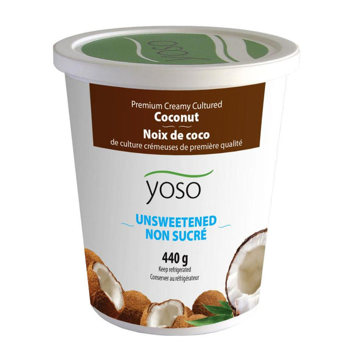 Yoso Creamy Cultured Coconut Yogurt Unsweetened 440g