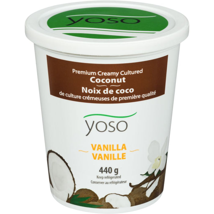 Yoso Creamy Cultured Coconut Yogurt Vanilla 440g