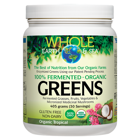 Natural Factors Whole earth and Sea Greens 405g