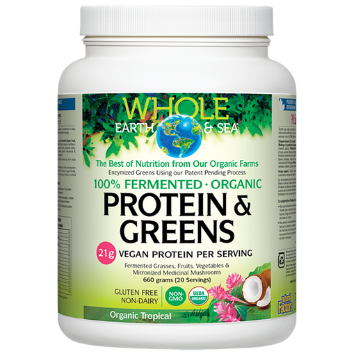 Natural Factors Whole earth and Sea Protein and Greens - Organic Tropical