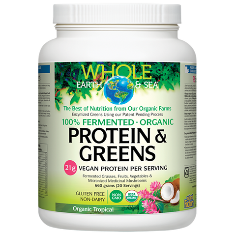 Natural Factors Whole earth and Sea Protein and Greens