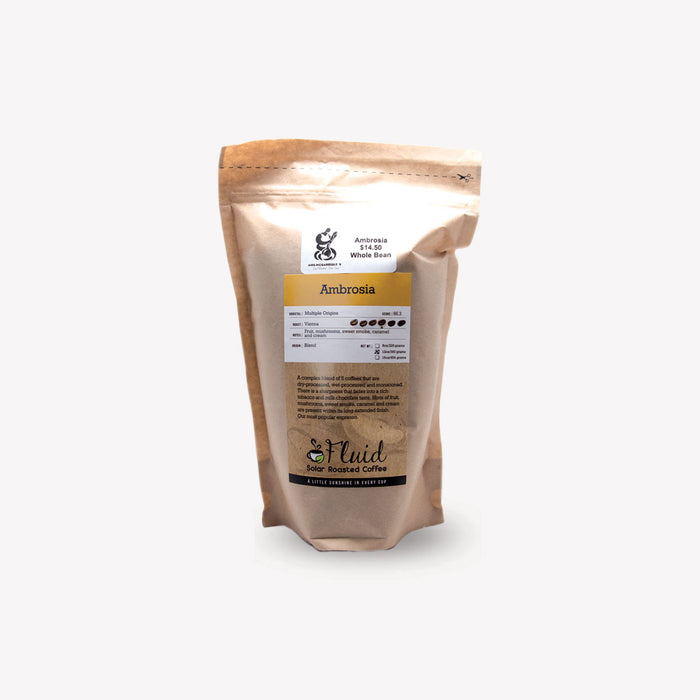 Fluid Solar Coffee Whole Bean Ambrosia 340g