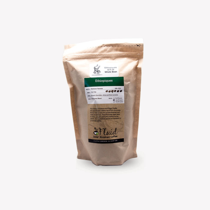 Fluid Solar Coffee Whole Bean Ethiopiques 340g