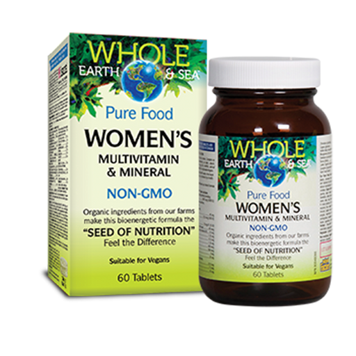 Women's Multivitamin & Minerals 60 tablets: Whole Earth and Sea