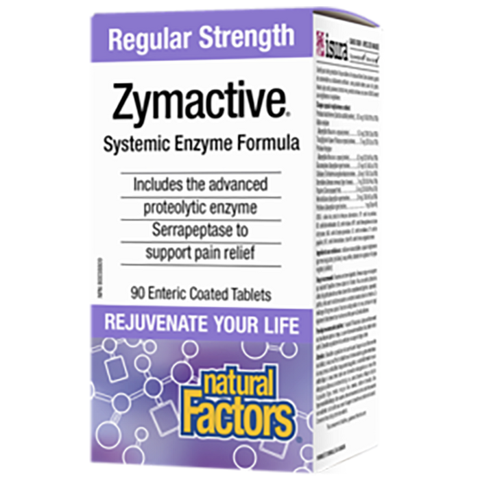 Natural Factors Zymatic Regular Strength 90 Vcaps