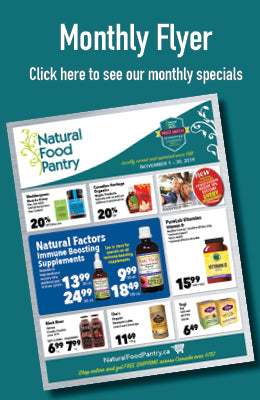 Natural Food Pantry Monthly Flyer