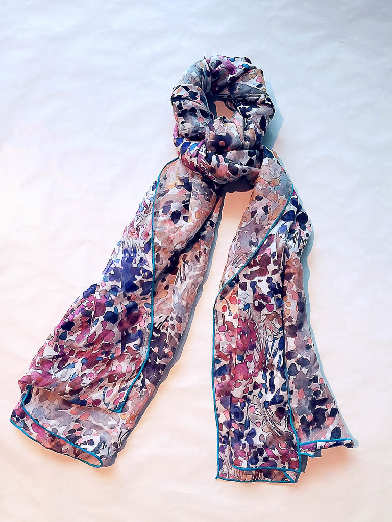 numero102 chic parisien jardin reversible silk chiffon hijab scarf modest fashion