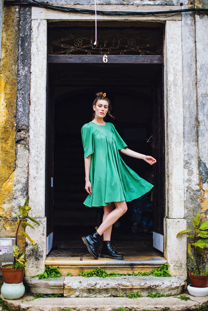 Green Venus dress - Family Affairs