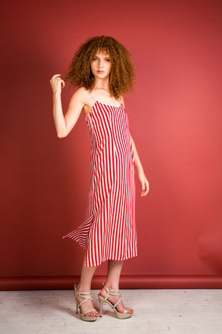 Cassis dress- red stripes - Family Affairs