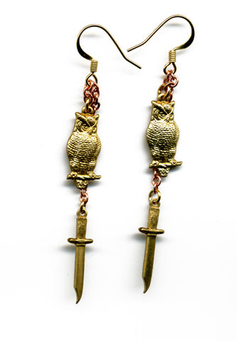 Fullmoon (Owl &Dagger) earrings - Family Affairs