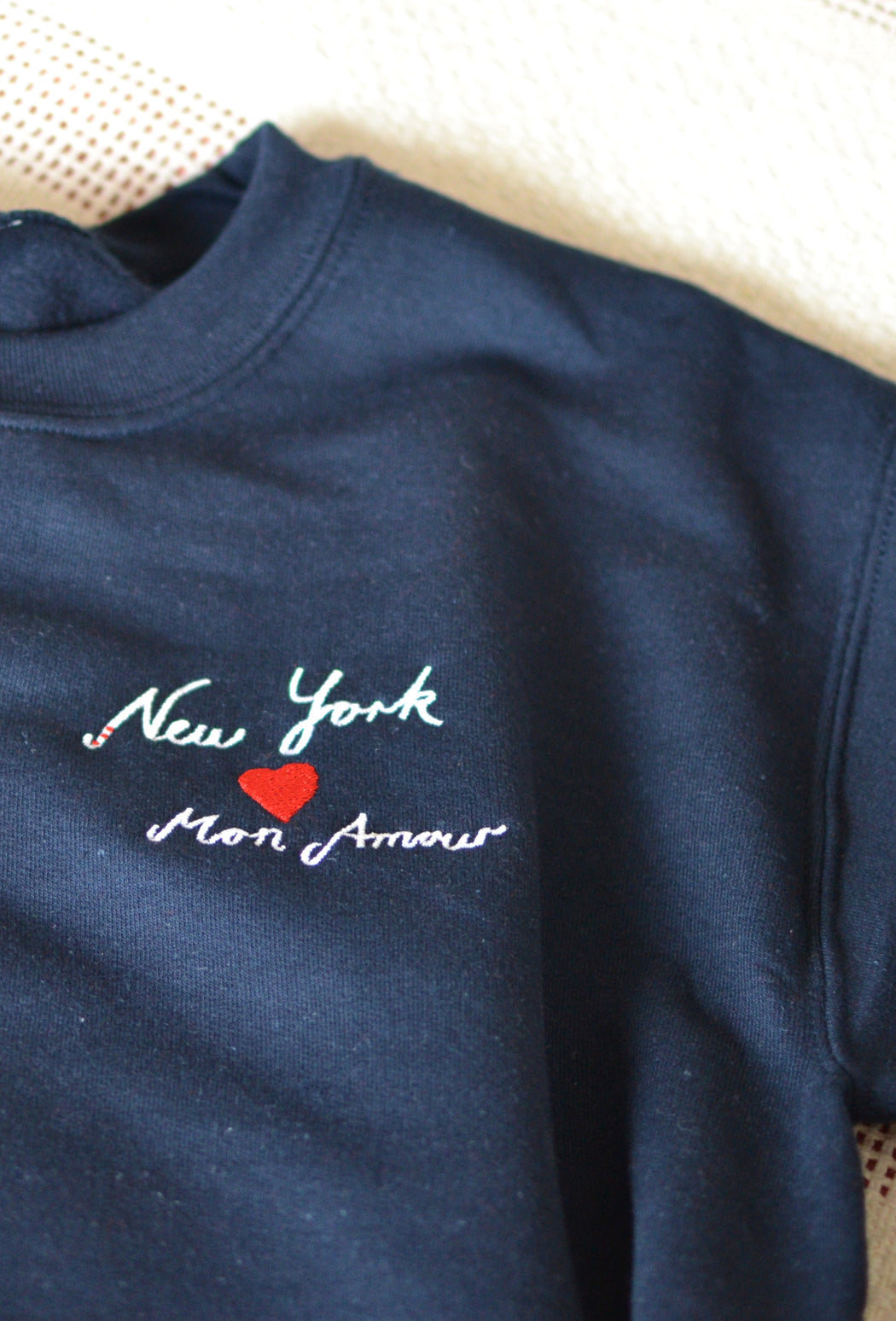 New York Mon Amour embroidered sweatshirt ♥