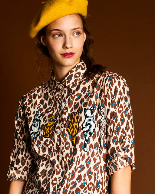 The Cat's Meow Leopard shirt - Family Affairs