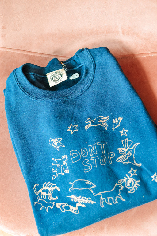 Don't Stop sweater navy