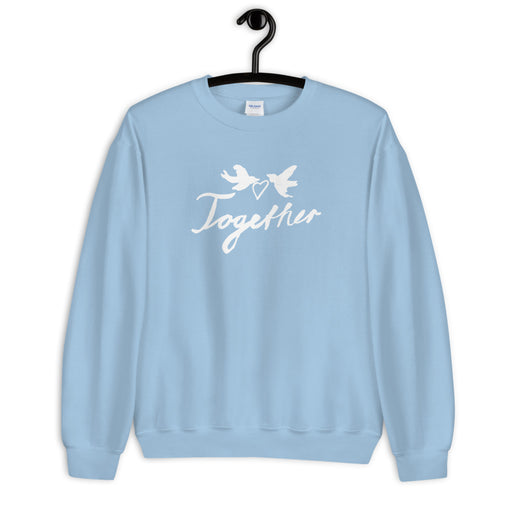 Together Sweatshirt- white print 🕊◻