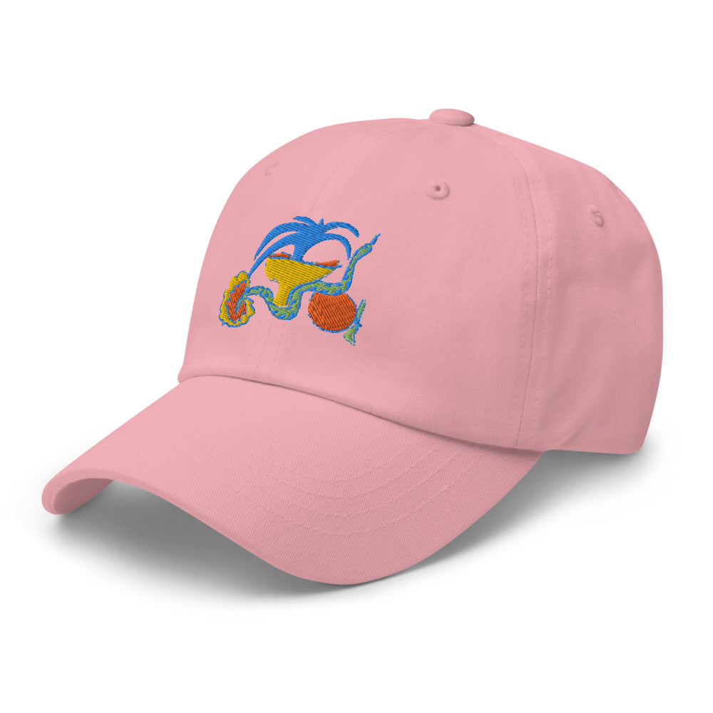 Dreaming of Greece Cap- white, pink, navy 🎨