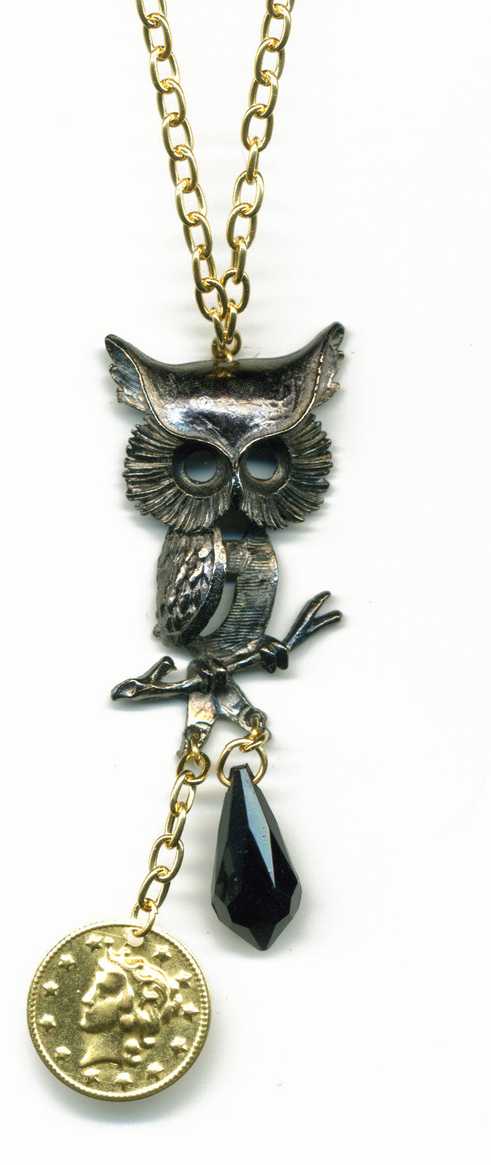 Queen Of The Night owl necklace - Family Affairs