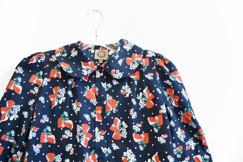 Baguette shirt - Strawberry print - Family Affairs