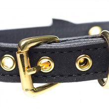 Load image into Gallery viewer, Golden Kitty Cat Bell Collar - Black/Gold