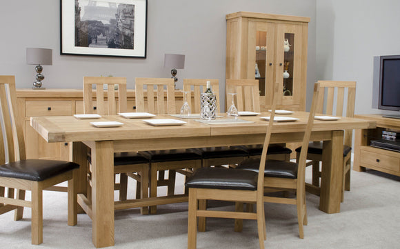 The Lyon Oak Living and Dining Collection