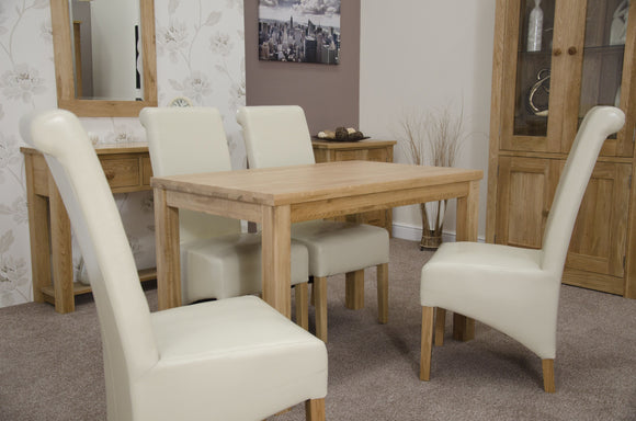 Midhurst Oak Rectangular Fixed Thick Top Table