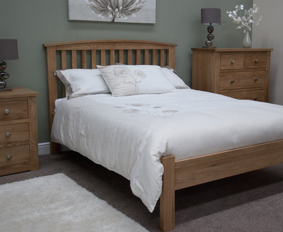 Midhurst Oak Arched King Size Rail Bed