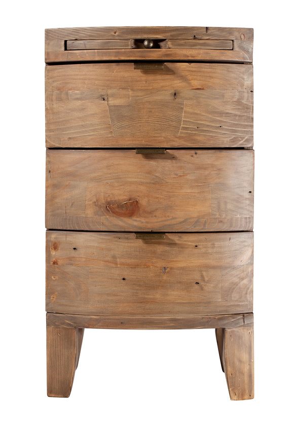 Hamilton Reclaimed 3 Drawer Bedside