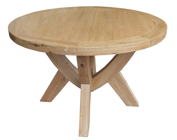 Bergerac Solid Oak Circular Dining Table