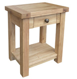 Bergerac Solid Oak Lamp Table
