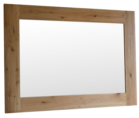 Bergerac Solid Oak Wall Mirror