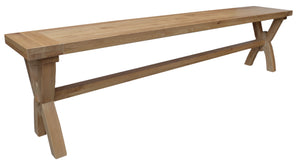 Bergerac Solid Oak Large Oxbow Bench
