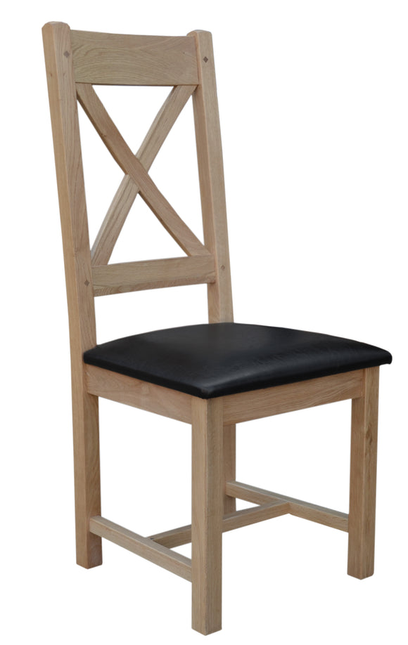 Bergerac Solid Oak Cross Back Chair