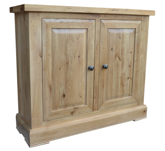 Bergerac Solid Oak 2 Door Cupboard