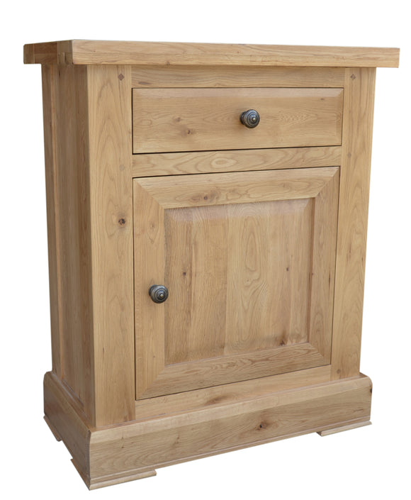 Bergerac Solid Oak 1 Door 1 Drawer Cupboard