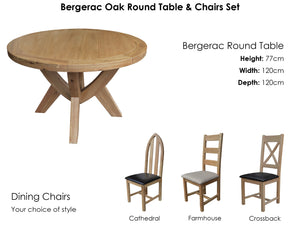 Bergerac Round Table & 4 Chairs Set
