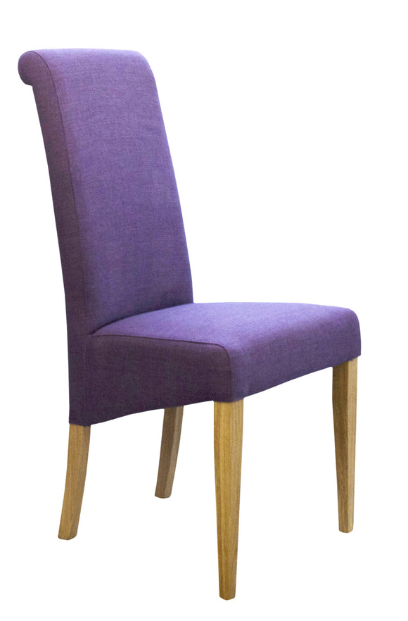 Rollback Fabric Dining Chair Purple