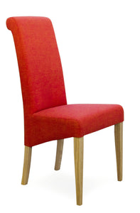 Rollback Fabric Dining Chair Chilli