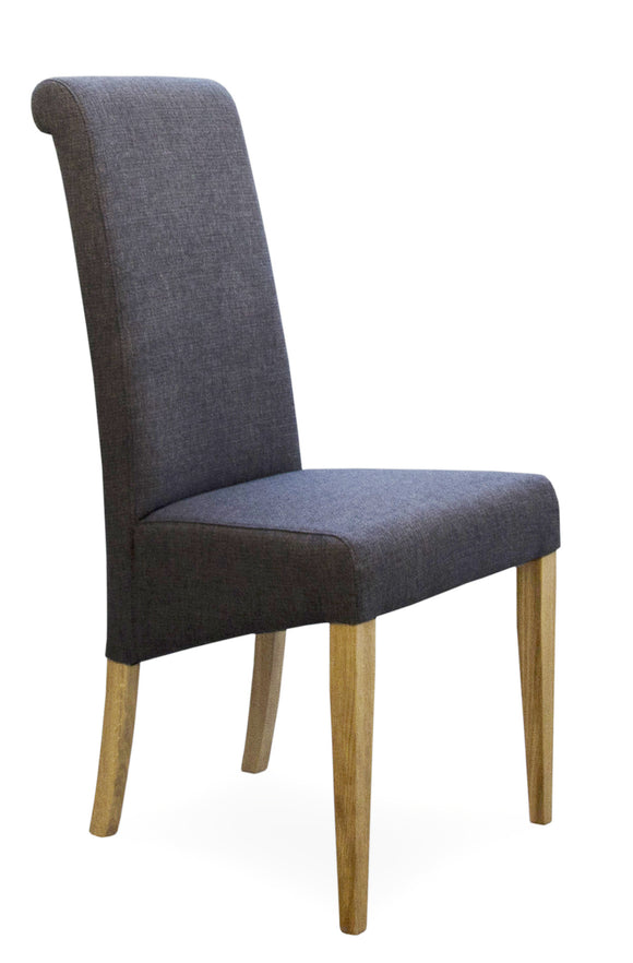 Rollback Fabric Dining Chair Stone